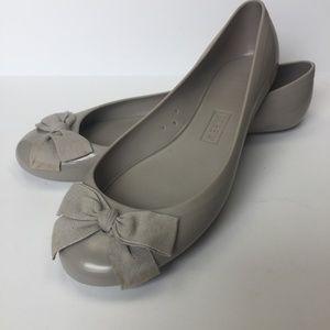 J. CREW Rainy Day Gray Jelly Ballet Flat 8M EUC